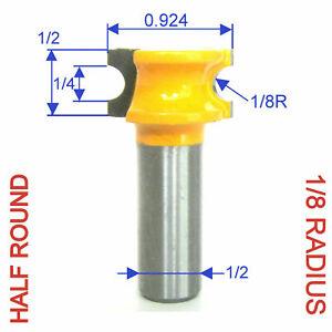 """1 pc 1/2"""" Shanks 1/8"""" Radius Half Round Bullnose Router Bit S"""