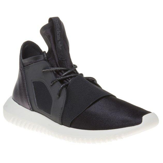 Nueva camiseta para mujer Adidas Negro Tubular Defiant Zapatillas Textil Zapatillas Defiant Retro Con Cordones bea9ae
