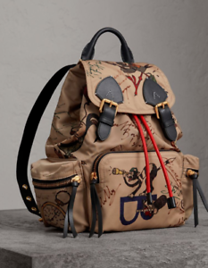 Image is loading NWOT-Authentic-Burberry-Medium-Rucksack-in-Sketch-Print- ab691859d5028
