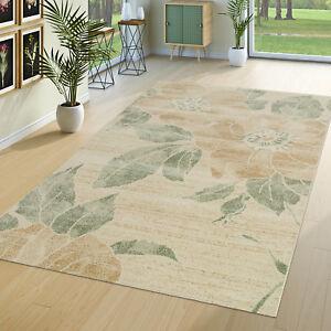 40e24796eef6a6 Das Bild wird geladen Teppich -Modern-Wohnzimmer-Romantische-Blumenmuster-Pastell-Trend-In-