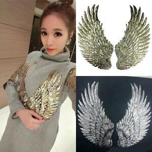 1Pair-Angel-Wings-Sewing-Clothes-Sequin-Iron-Sew-Embroidery-Patch-Applique-Craft