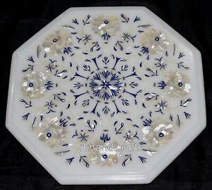 30.5cm Marmo Tavolino Da Caffè Top Inserto tavolino con madreperla per la casa