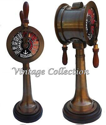 """Vintage Messing Telegraph 20 /""""Schiff Marine Antike Maschinenraum Sammlerstücke"""