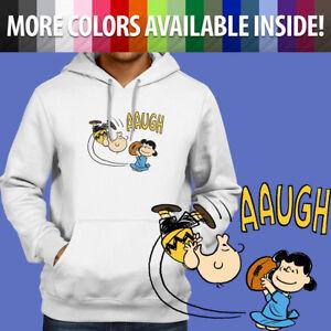 Classic-Peanuts-Charlie-Brown-Football-Kick-Pullover-Sweatshirt-Hoodie-Sweater