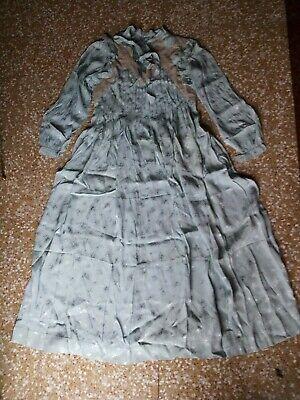 Camicia Da Notte / Seta / Vintage / Azzurra / Taglia L / Ottima Attivando La Circolazione Sanguigna E Rafforzando I Tendini E Le Ossa