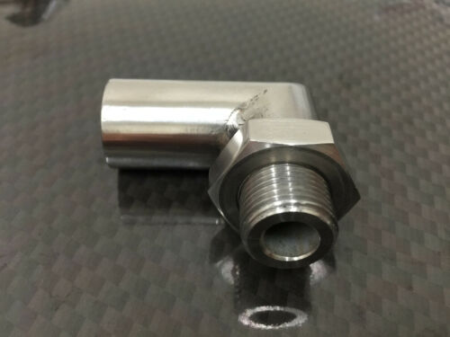 O2 OXYGEN SENSOR ANGLED EXTENDER 90° DEGREE ANGLE O2 BUNG M18 X 1.5 SPACER PIPE