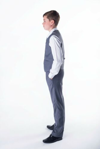 Boys Suits Formal Party 5 Piece Grey Boys Wedding Suit Prom Page Boy Suit