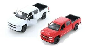 Welly-1-24-Scale-2017-Chevy-Silverado-Diecast-Model-Toy-Car-24083-Red-or-White