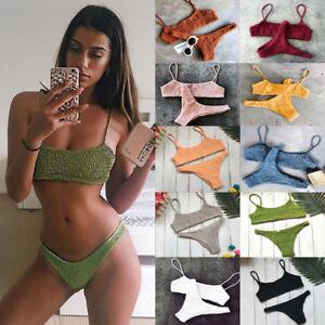 Triangle-Swimwear-Bathing-Padded-Bra-Bikini-Set-Swimsuit-Women-Bandage-Push-up