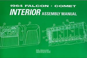 1964 64 ford falcon interior assembly manual ebay 66-77 bronco wiring diagram