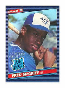 1986 Donruss Fred Mcgriff 28 Baseball Card