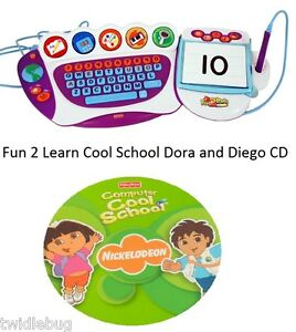 Fisher-Price-Fun-2-Learn-Computer-Cool-School-Software-Dora-and-Diego-Game-CD