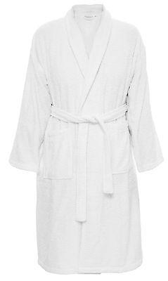 Attivo Cappotto Da Bagno Taglia M Collo Sciallato + Borsa 100% Cot. Bianco Vestaglia Casa Cappotto-mostra Il Titolo Originale Qualità Eccellente