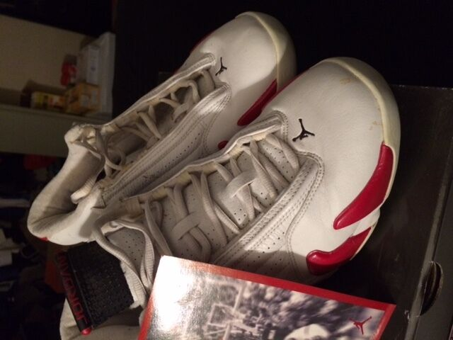 Men's Nike Air Jordan Shoes XIV 14 Red and White Comfortable Great discount