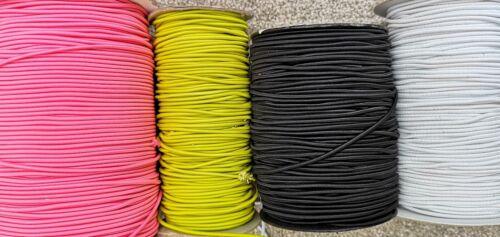 2 metri Elastico Bungee corda cordino bianco nero 1.5MM 2MM 2.5MM 3.5MM
