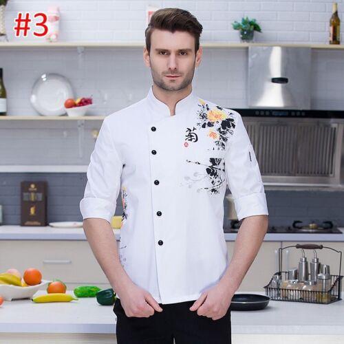 Details about  /New Chef Coat Comfort Restaurant Cook Long Sleeve Workwear Bakery Uniform Ske15
