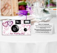 20 Wedding Hearts Disposable Cameras-personalize-wedding Camera/anniversary