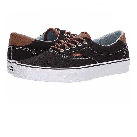 91fb60e2a290 Vans era 59 C Lblack stripe denim sneaker shoes men size 9  woman size 10.5  new