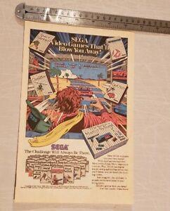Sega Master System RARE Print Advertisement