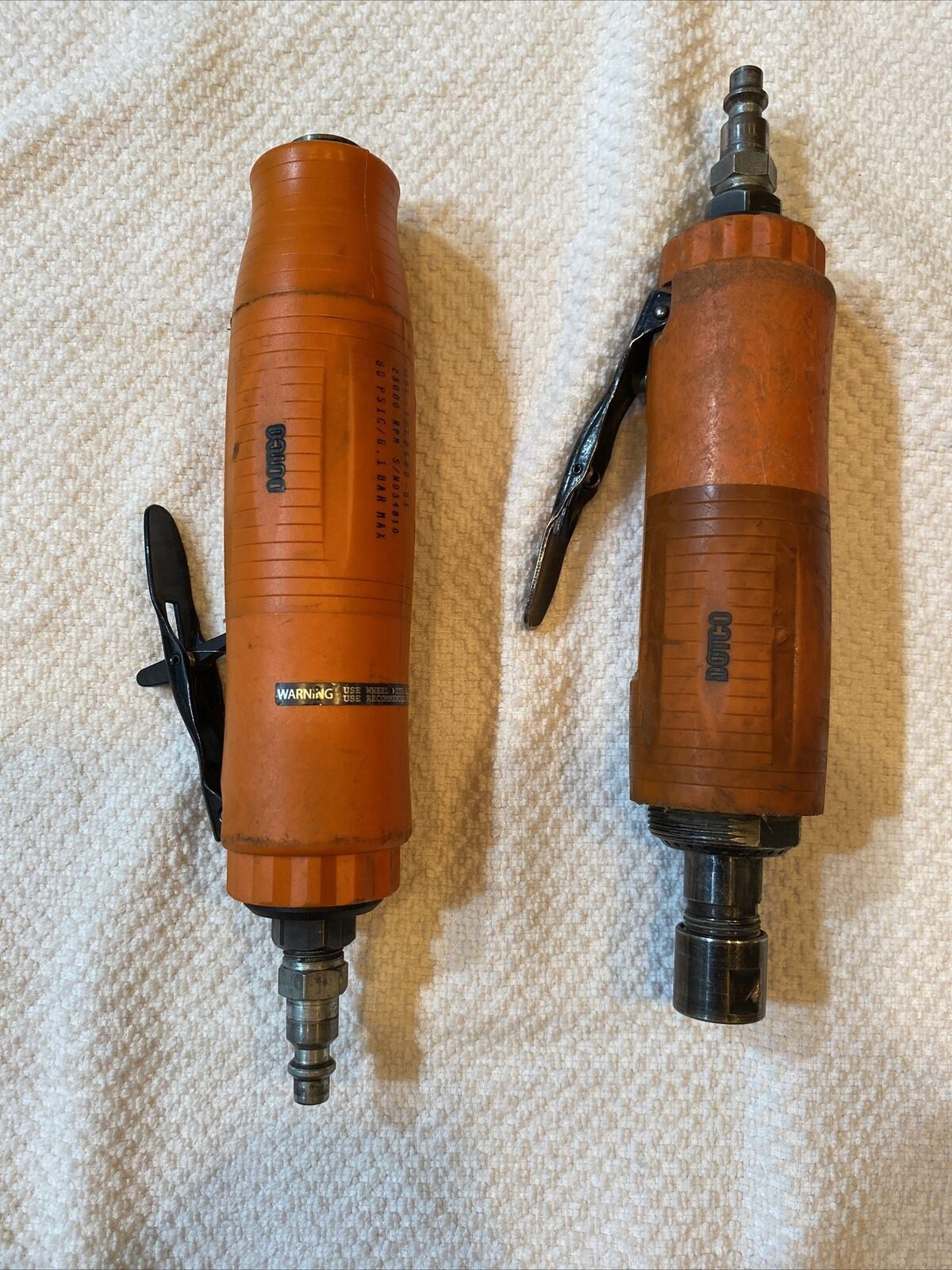Dotco 12L2500-01 Pneumatic Grinders. Lot Of 2.. Buy it now for 270.00