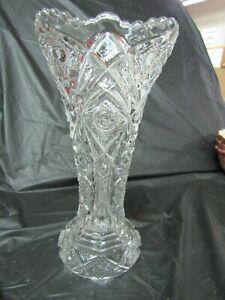 Beautiful-Cut-Glass-Large-Vase