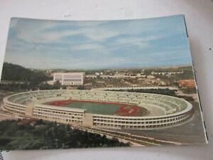 Carte Postale Vintage Roma Satdio Olympique Shipped 1954
