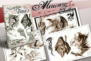 MAURICIO-2-Tattoo-Flash-Design-Book-55-Pages-Black-amp-Grey-Idea-Art-Supply