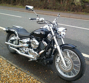 7 Headlight 4 Motorcycle Custom Bikes Choppers Cruisers 12v 35watt Trikes Ebay