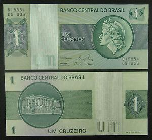 BRAZIL BRASIL 1 Cruzeiro BANKNOTE 1980 UNC