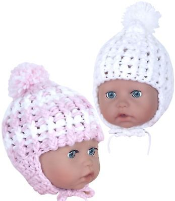 BabyPrem Baby Infant Childs Girls Clothes Pink Soft Cotton Knotted Hats NB-12m
