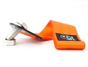 orange SK-Racing Abschleppschlaufe Abschlepphaken Motorsport Rally FIA Tow Strap Hook