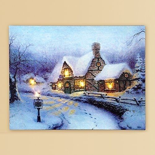 LED Light Wall Hanging Art Picture Print Paint Winter Christmas Xmas Decoration