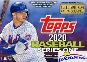 2020-Topps-Series-1-Baseball-EXCLUSIVE-Sealed-Blaster-Box-ROOKIE-MEDALLION-RELIC