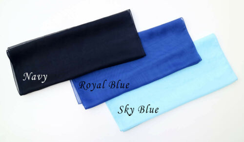 23 colour options Women Plain Chiffon Scarf Silk Like Soft Neck Shawl By Kongle