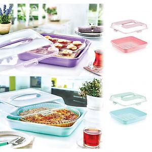 Portable-Square-Cake-Box-Cupcake-Flan-Dish-Pie-Quiche-Baking-Tin-Serving-Tart