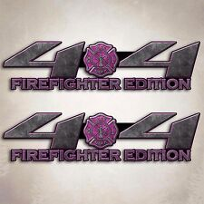 4x4 Truck Firefighter Wife Decal Pink Fire Off Road Girl Sticker Set