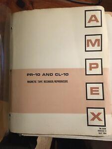 AMPEX 1964 PR-10 and CL-10 Ser