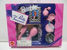HTF Barbie Doll Pretty Treasures Vanity Beauty Accessories 1995 NRFB 13756-0910
