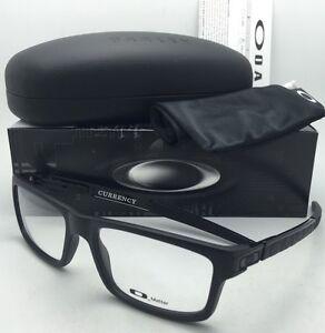 bbb5dd3c4c New OAKLEY Eyeglasses CURRENCY OX8026-0154 54-17 Satin Black Frames ...