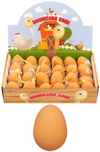 12 x Fake Eggs Rubber Eggs Bouncy Rubber Eggs Joke Eggs Prank Eggs Dummy Eggs
