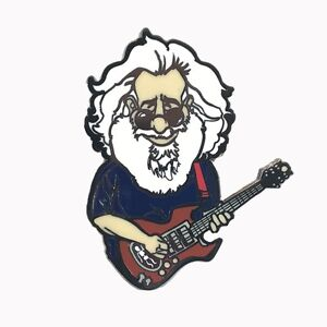 Details about Jerry Garcia, lapel pin, Grateful Dead Pin, Rosebud, Hat Pins,