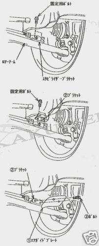 JDM Carbon Fiber Brake Cooling Guides For Mitsubishi Evolution Evo EVO 7 8 9 X