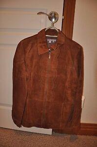 Isabella-Bird-Western-Suede-Leather-Jacket-size-M-Brown-Zip-Front-Womens-Coat