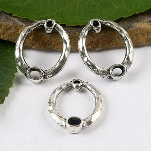 20pcs Tibetan silver oval ring charm findings h1682
