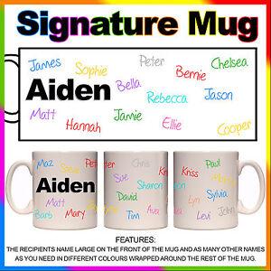 personalised signature mug birthday retirement farewell gift