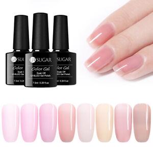 UR-SUGAR-7-5ml-Jelly-Pink-Gellack-Sweet-Natural-Soak-Off-Nagel-Kunst-UV-Gel