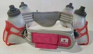 Nathan-Hydration-Belt-4-Water-Bottles-9oz-Each-Adjustable-Strap-Running-Hiking-M