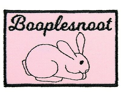 Death Metal Funny Cute Bunny Iron On Patch Rabbit Quirky Applique//Transfer Sew