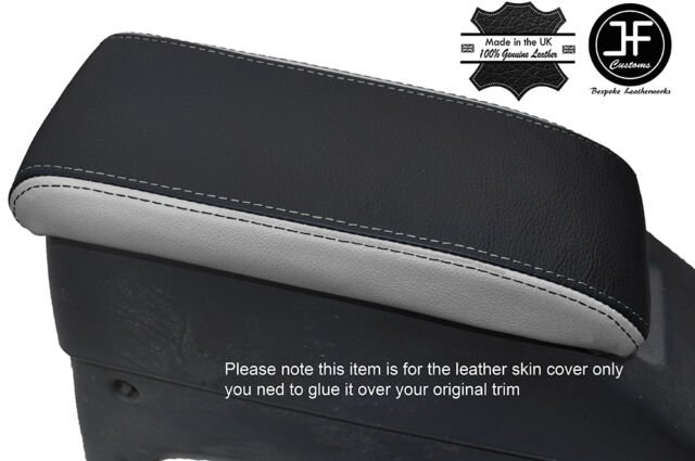 RED STITCH FITS TOYOTA HILUX 4 RUNNER SURF 96-02 GREY ARMREST LEATHER COVER ONLY