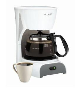 New-Mr-Coffee-4-Cup-Switch-Coffeemaker-DR4-White-Color